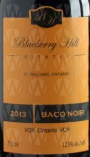 Blueberry Hill Estates Winery Baco Noir