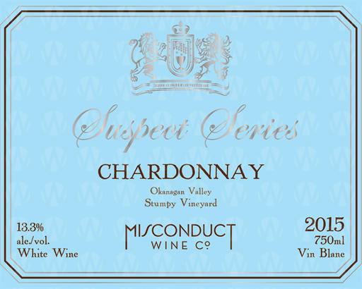 Misconduct Wine Co. Suspect Series Chardonnay