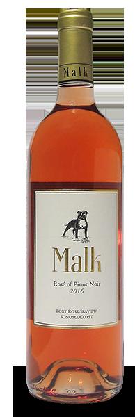 Malk Family Vineyards Rosé of Pinot Noir Bottle Preview