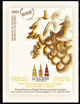 Vignoble Les Trois Clochers Blanc Boisé