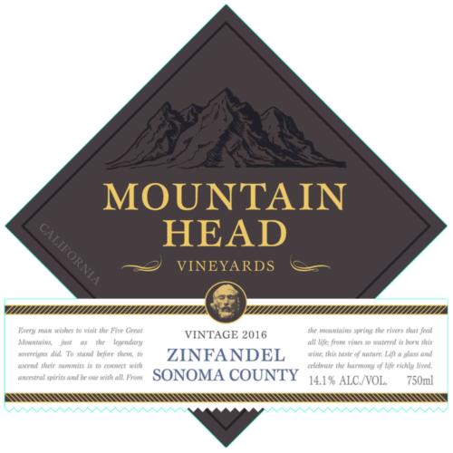 Grand Napa Vineyards SONOMA COUNTY ZINFANDEL Bottle Preview
