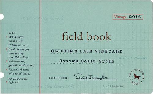 Spottswoode Estate Vineyard & Winery Field Book Syrah Bottle Preview