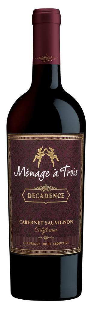 Ménage à Trois Wines Ménage à Trois Decadence Cabernet Sauvignon Bottle Preview
