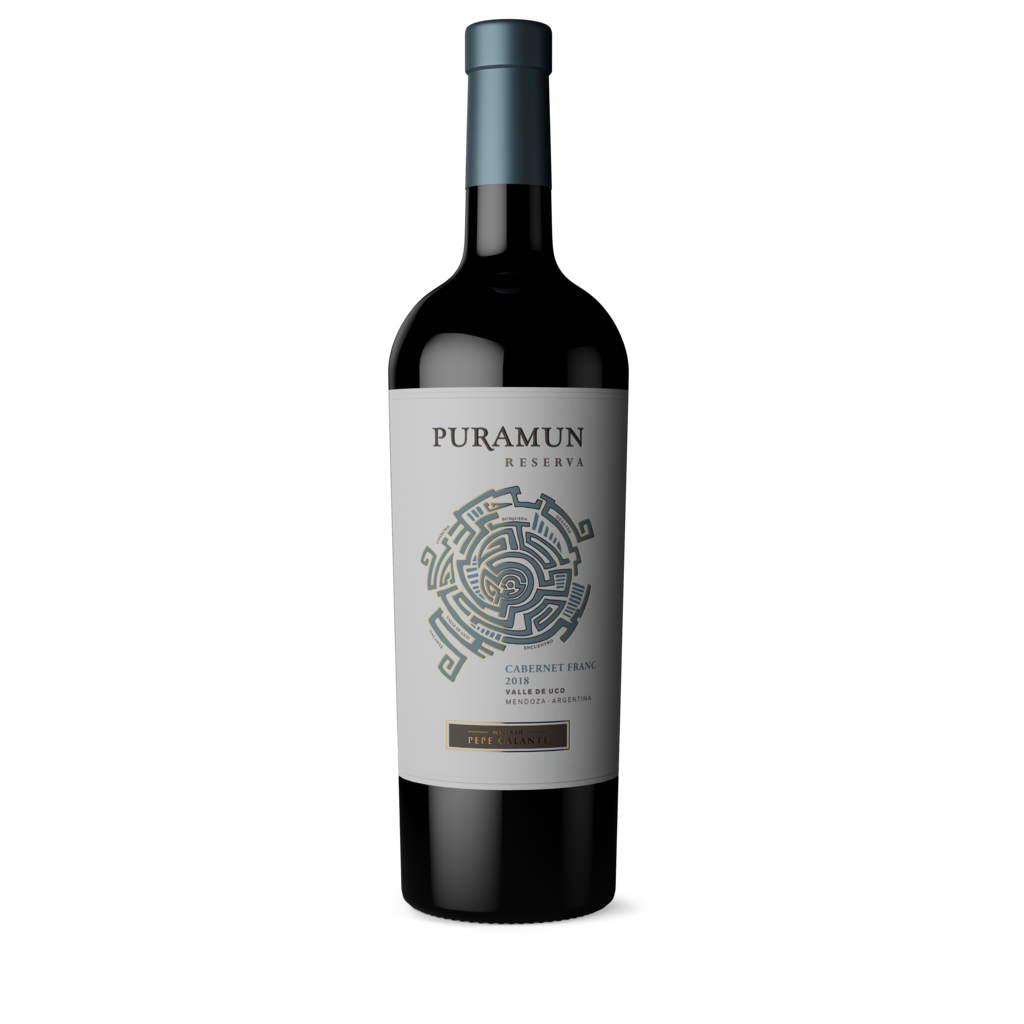 Puramun For this 2018 Cabernet Franc we hand picked grapes from Paraje Altamira, San Carlos. Aged for 12 month in french oak barrels. With an elegant and expressive body, soft and round tannins Bottle Preview