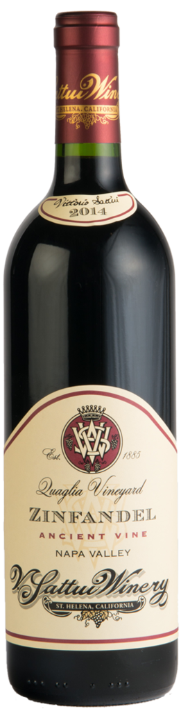 V. Sattui Winery Quaglia Zinfandel Bottle Preview