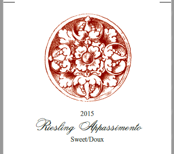 Ridgepoint Wines Riesling Appassimento