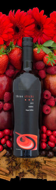 Three Clicks Wines Malbec Bottle Preview