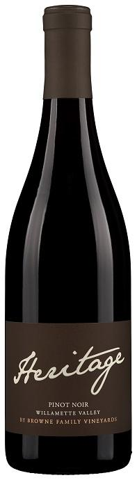 Browne Family Vineyards Heritage Pinot Noir Bottle Preview