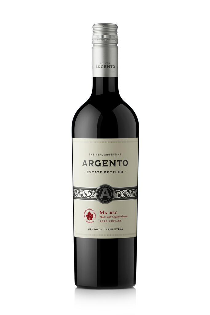 Argento Estate Bottled Organic Malbec Bottle
