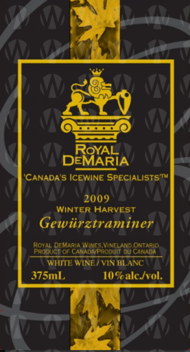Royal DeMaria Wines Winter Harvest Gewürztraminer