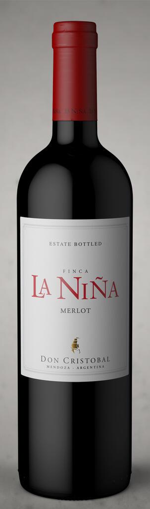 Bodega Don Cristobal Finca La Niña merlot 2020 Bottle Preview