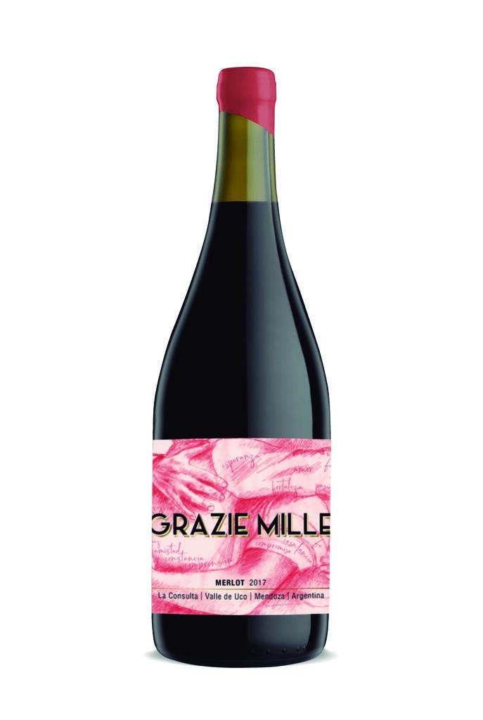 Grazie Mille - Design Wines Linea Design - Merlot Bottle Preview