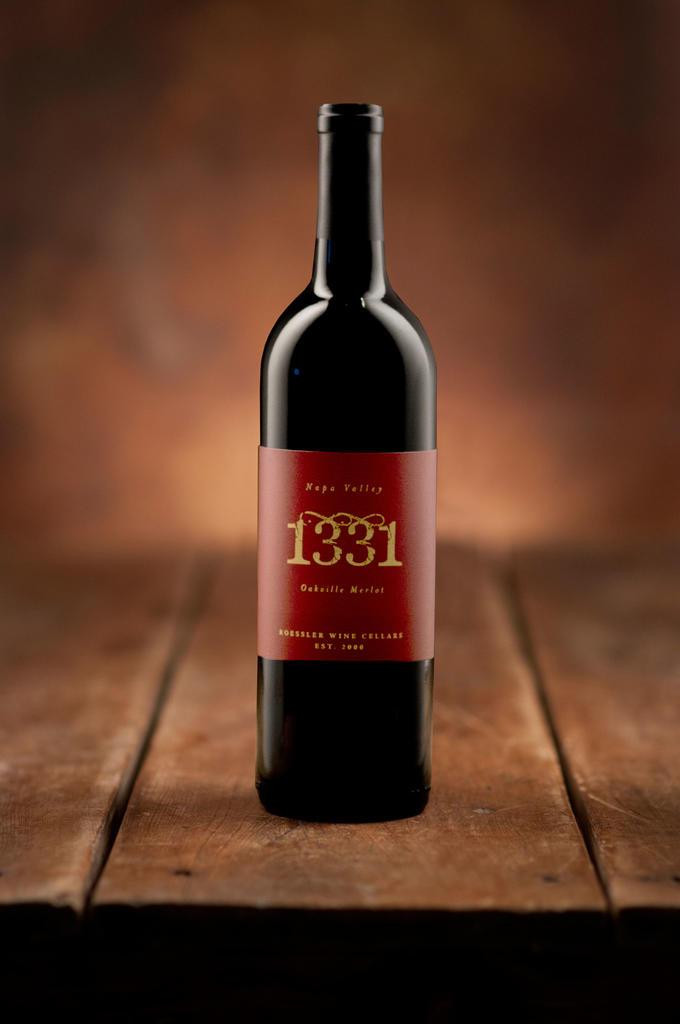 """Roger Roessler Wines """"1331"""" Napa Valley Oakville Merlot Bottle Preview"""