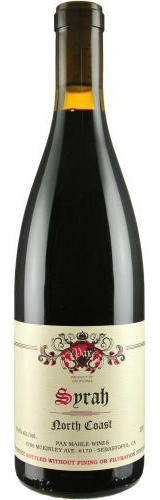 Pax Mahle Wines North Coast Syrah Bottle Preview