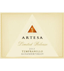 Artesa Winery Limited Release Tempranillo, Alexander Valley Bottle Preview
