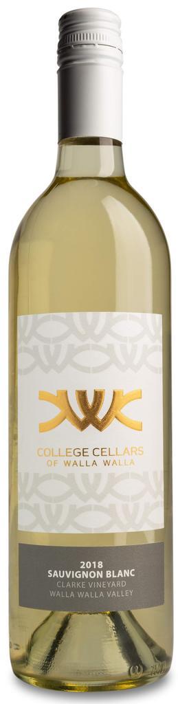 College Cellars of Walla Walla Sauvignon Blanc Bottle Preview