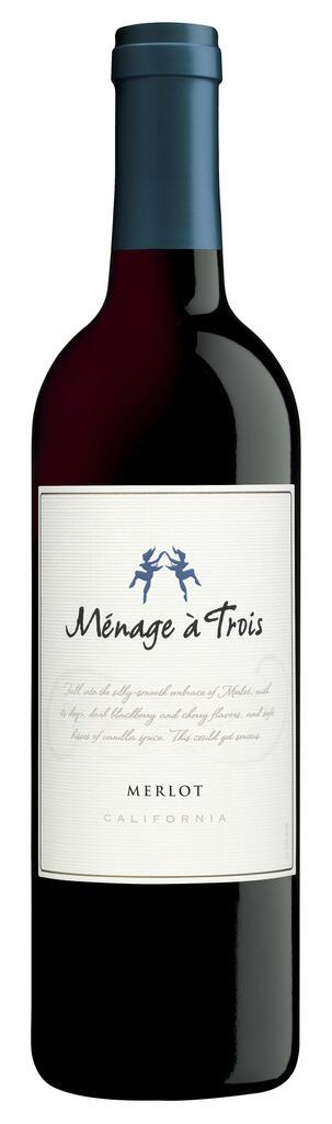 Ménage à Trois Wines Ménage à Trois Merlot Bottle Preview