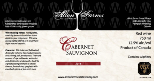Alton Farms Estate Winery Cabernet Sauvignon