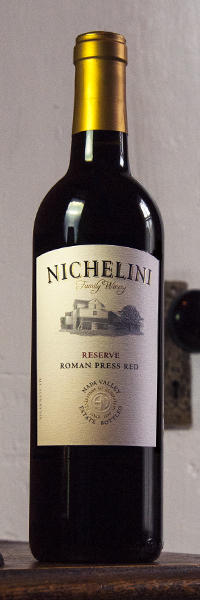 Nichelini Family Winery Roman Press Red Bottle Preview