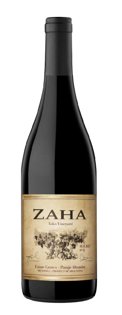 Bodega Teho Zaha Malbec Bottle Preview