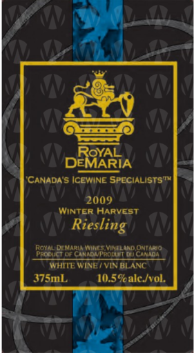 Royal DeMaria Wines Winter Harvest Riesling