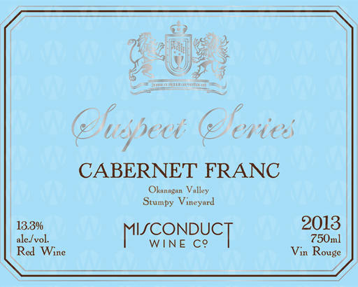 Misconduct Wine Co. Suspect Series Cabernet Franc