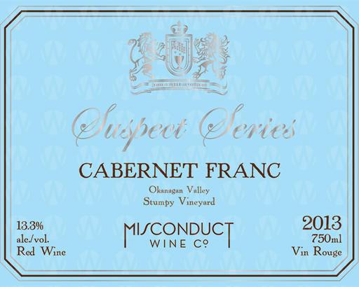 Misconduct Wine Co. Suspect Series Cabernet Franc