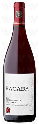 Kacaba Vineyards and Winery Pinot Noir, Founder's Select