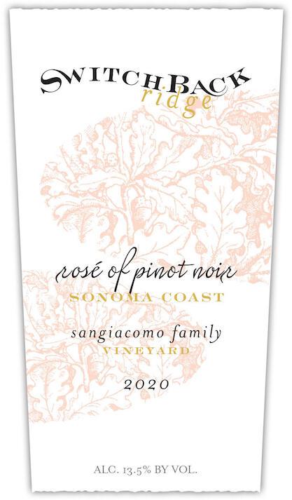 Switchback Ridge Rose of Pinot Noir, Sangiacomo Family Vineyard Bottle Preview