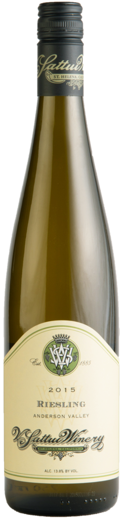 V. Sattui Winery Anderson Valley Riesling Bottle Preview