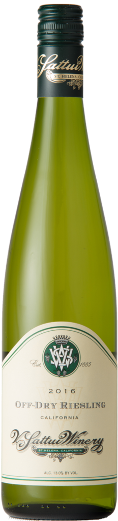 V. Sattui Winery Off-Dry Riesling Bottle Preview