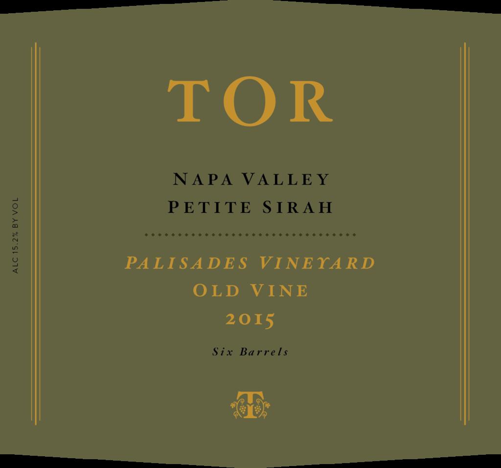 TOR Wines Palisades VIneyard Petite Syrah Bottle Preview