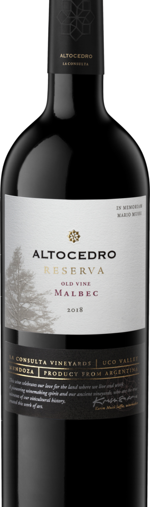 Altocedro RESERVE OLD VINE MALBEC Bottle Preview
