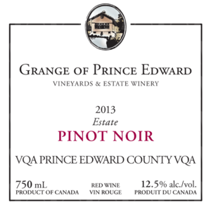The Grange of Prince Edward Vineyards and Estate Winery Estate Pinot Noir