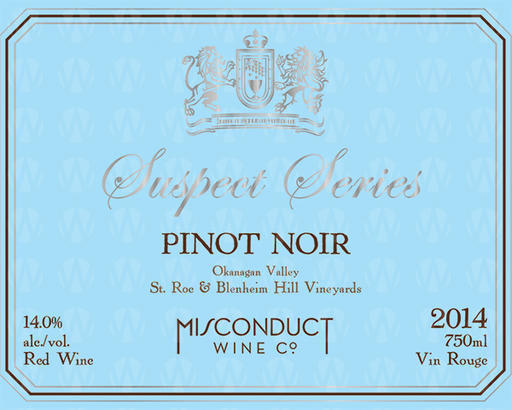 Misconduct Wine Co. Suspect Series Pinot Noir