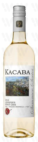 Kacaba Vineyards and Winery Jennifer's Pinot Gris
