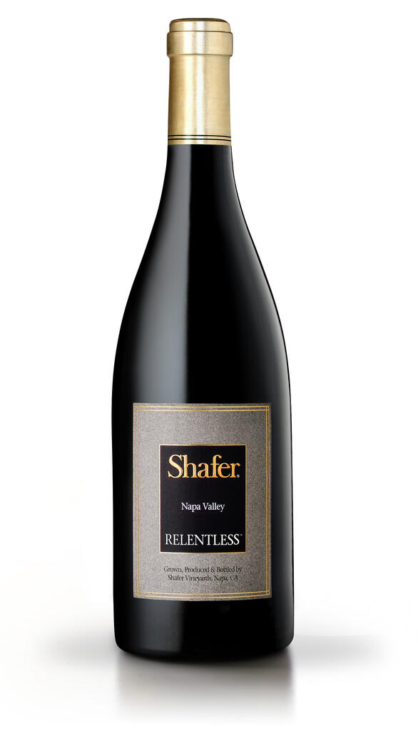 Shafer Vineyards Relentless is a Syrah blend that Shafer has produced since the 1999 vintage. It's typically a composed of about 90% Syrah, 10% Petite Sirah with fruit from vineyards in the foothills of the Vaca Mountains just south of Napa Valley's Stags Leap District. Bottle Preview