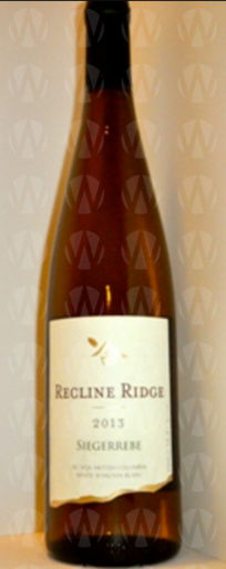Recline Ridge Vineyards and Winery Siegerrebe