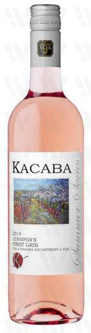 Kacaba Vineyards and Winery Jennifer's Pinot Gris