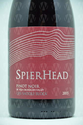 SpearHead Winery Pinot Noir GFV Saddle Block