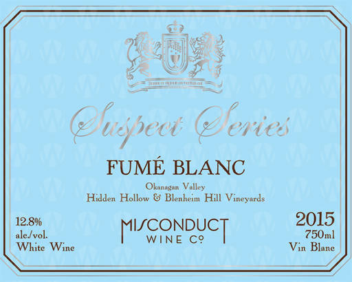 Misconduct Wine Co. Suspect Series Fumé Blanc