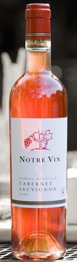 Notre Vin Howell Mountain Cabernet Sauvignon Rosé Bottle Preview