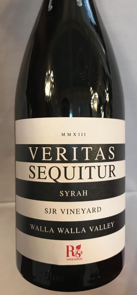 Rasa Vineyards Veritas Sequitur Bottle Preview