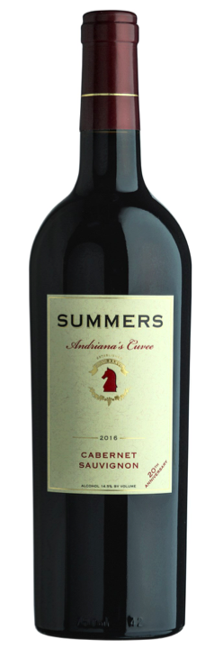 Summers Estate Wines Andriana's Cuvee Cabernet Sauvignon Bottle Preview