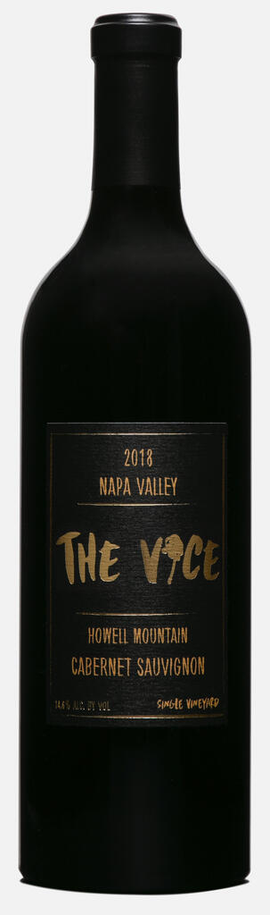 """The Vice Napa Valley Wines The Vice, """"The Coyote"""", Cabernet Sauvignon, Howell Mountain, Napa Valley Bottle Preview"""