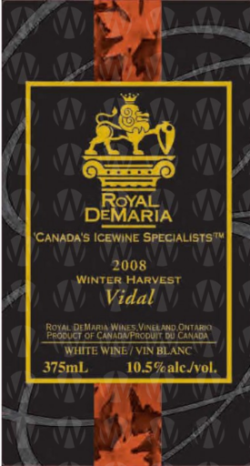 Royal DeMaria Wines Winter Harvest Vidal