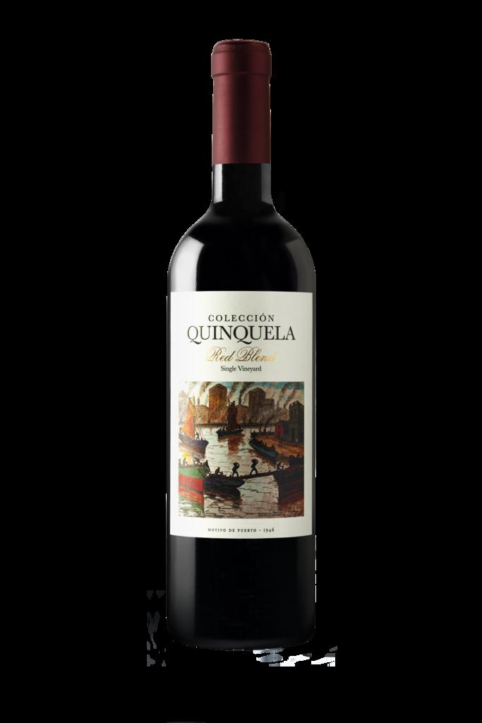 Colección Quinquela Motivo de Puerto Red Blend Malbec-Cabernet Sauvignon Bottle
