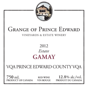 The Grange of Prince Edward Vineyards and Estate Winery Estate Gamay