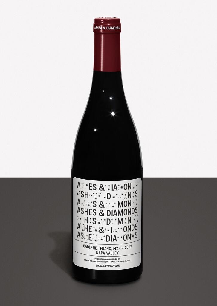 Ashes & Diamonds CABERNET FRANC №4 — 2017 Bottle Preview