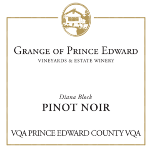 The Grange of Prince Edward Vineyards and Estate Winery Diana Block Pinot Noir